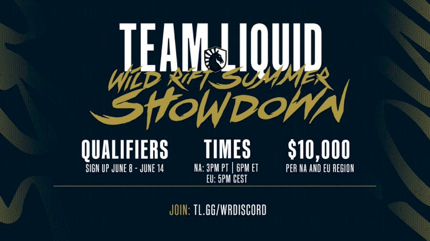 Team Liquid anuncia o Wild Rift Summer Showdown