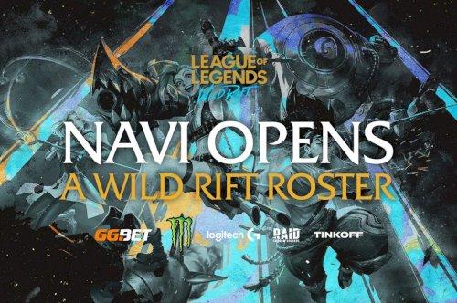 NAVI apresenta nova equipa de League of Legends:  Wild Rift