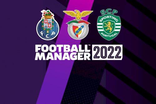 Football Manager 2022 tem FC Porto, SL Benfica e Sporting CP licenciados